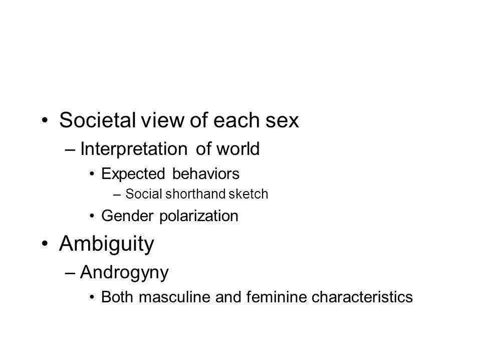 Societal view of each sex