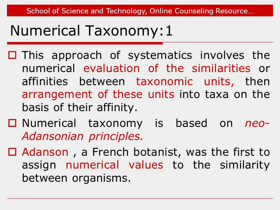 Numerical Taxonomy:1