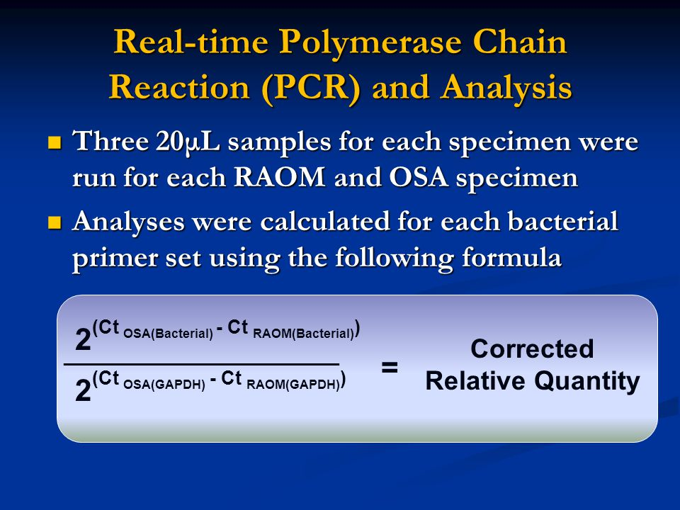 Real-time Polymerase Chain Reaction (PCR) and Analysis