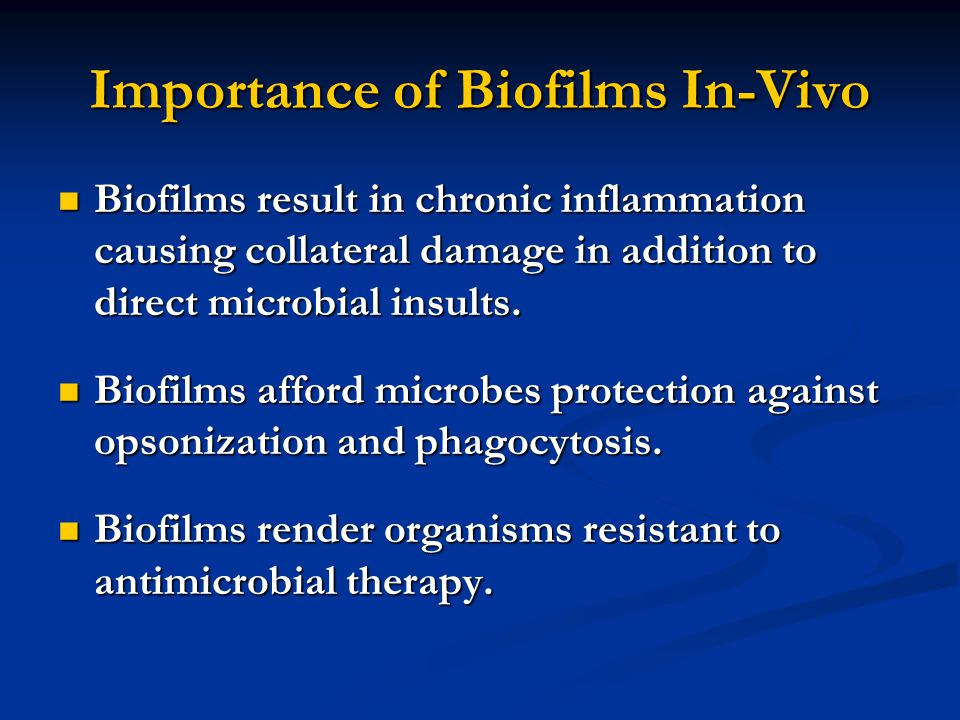 Importance of Biofilms In-Vivo