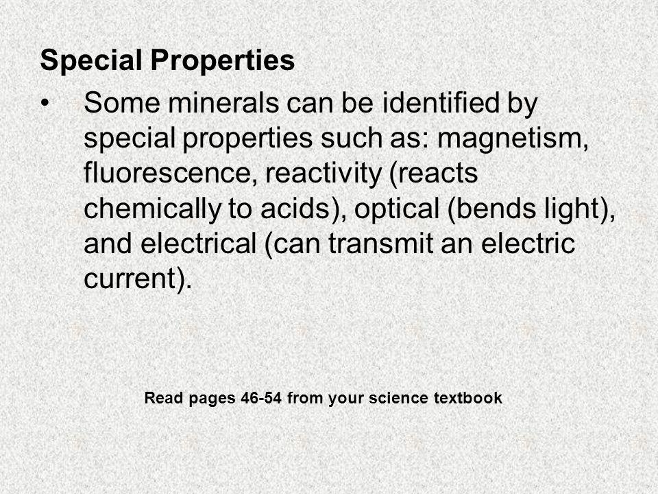 Special Properties
