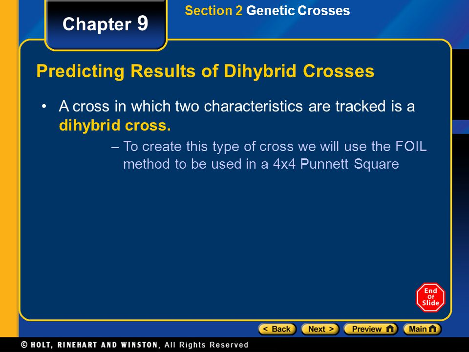 Predicting Results of Dihybrid Crosses