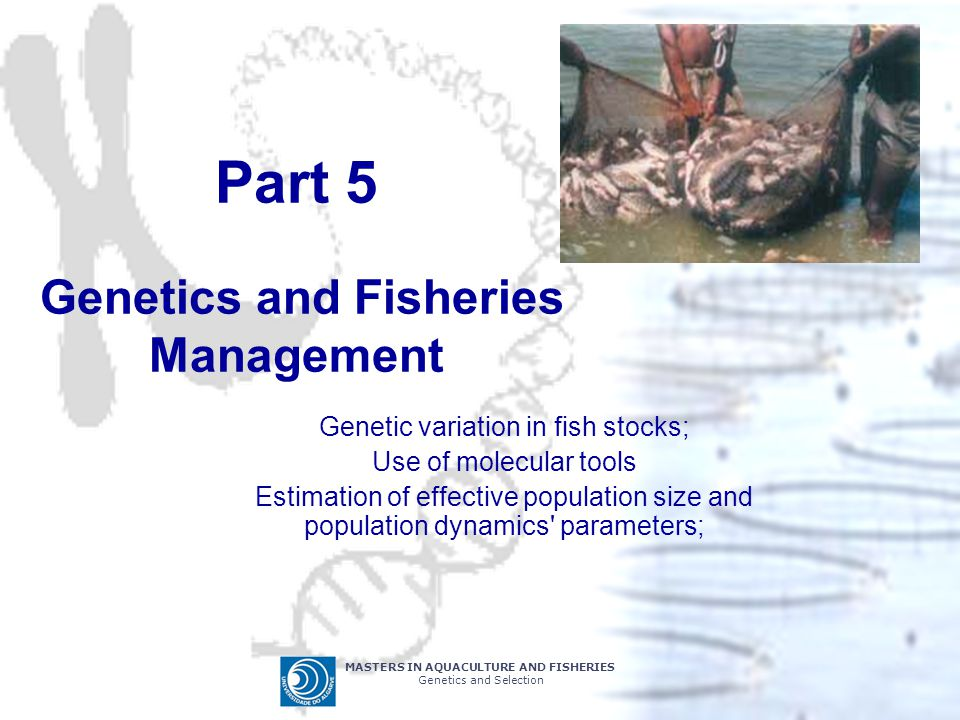Part 5 Genetics and Fisheries Management