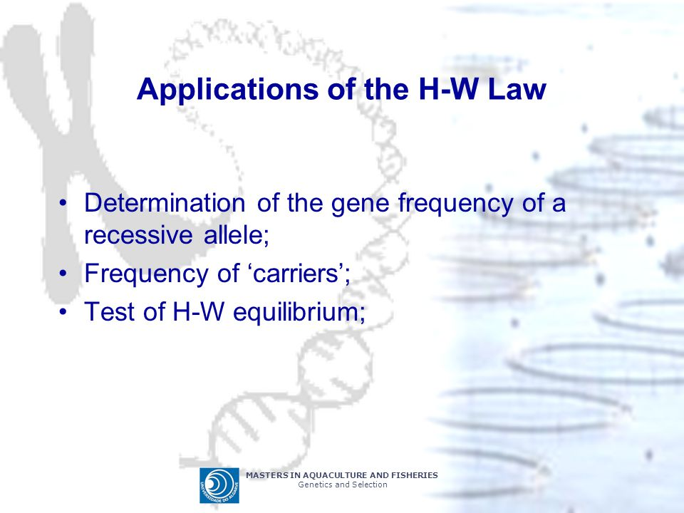 Applications of the H-W Law