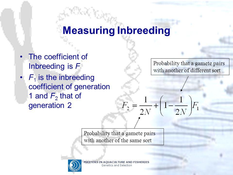 Measuring Inbreeding The coefficient of Inbreeding is F