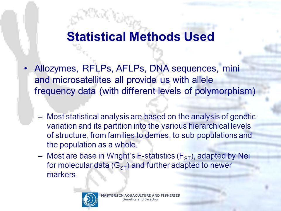 Statistical Methods Used