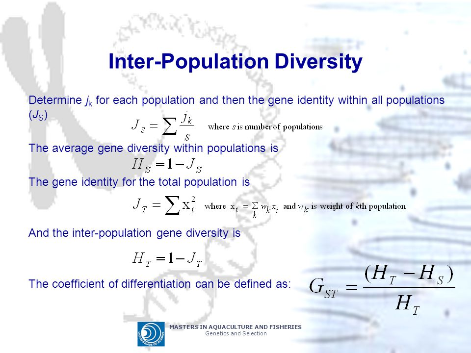 Inter-Population Diversity