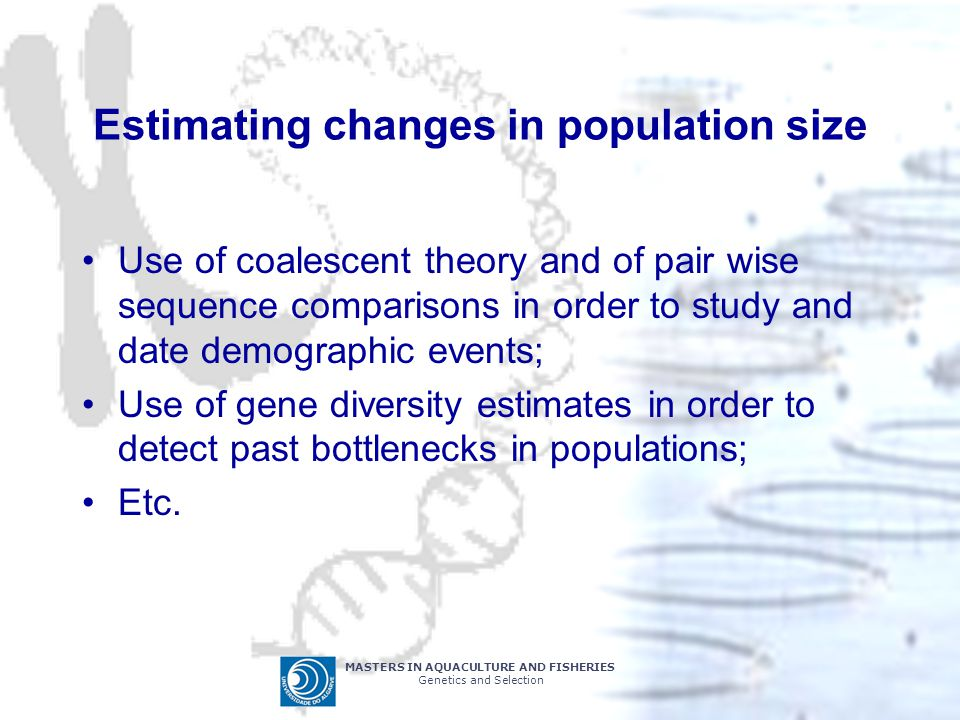 Estimating changes in population size