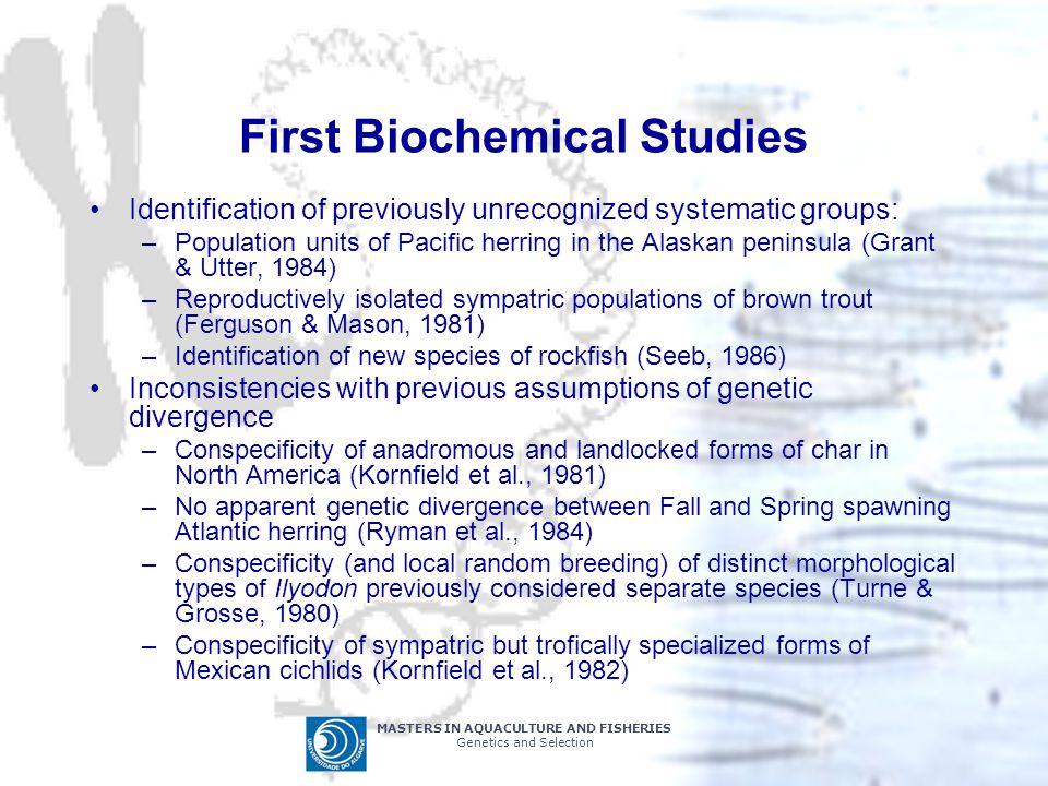 First Biochemical Studies
