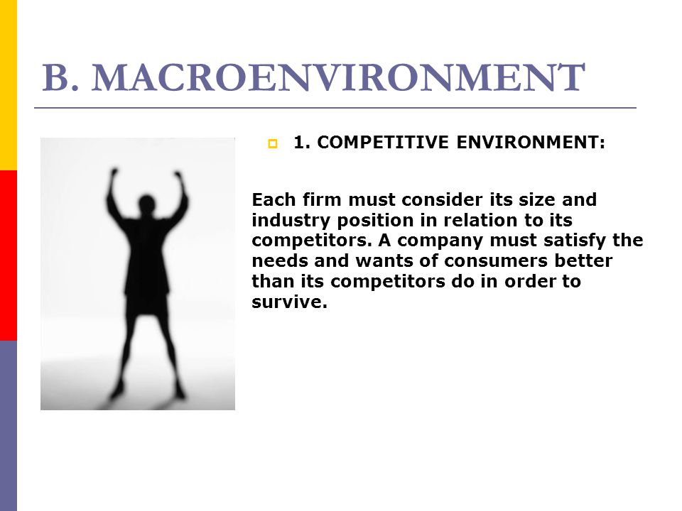 B. MACROENVIRONMENT 1. COMPETITIVE ENVIRONMENT: