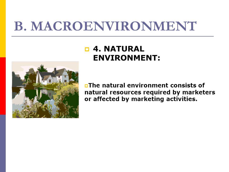 B. MACROENVIRONMENT 4. NATURAL ENVIRONMENT: