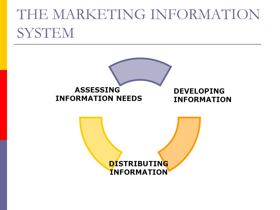 THE MARKETING INFORMATION SYSTEM