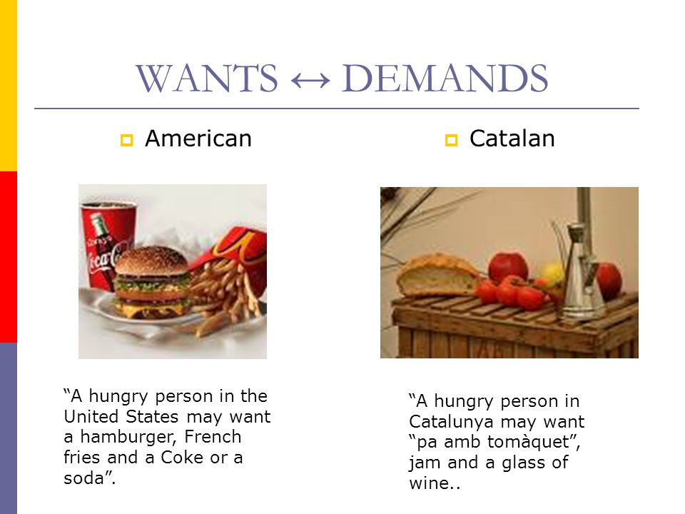 WANTS ↔ DEMANDS American Catalan