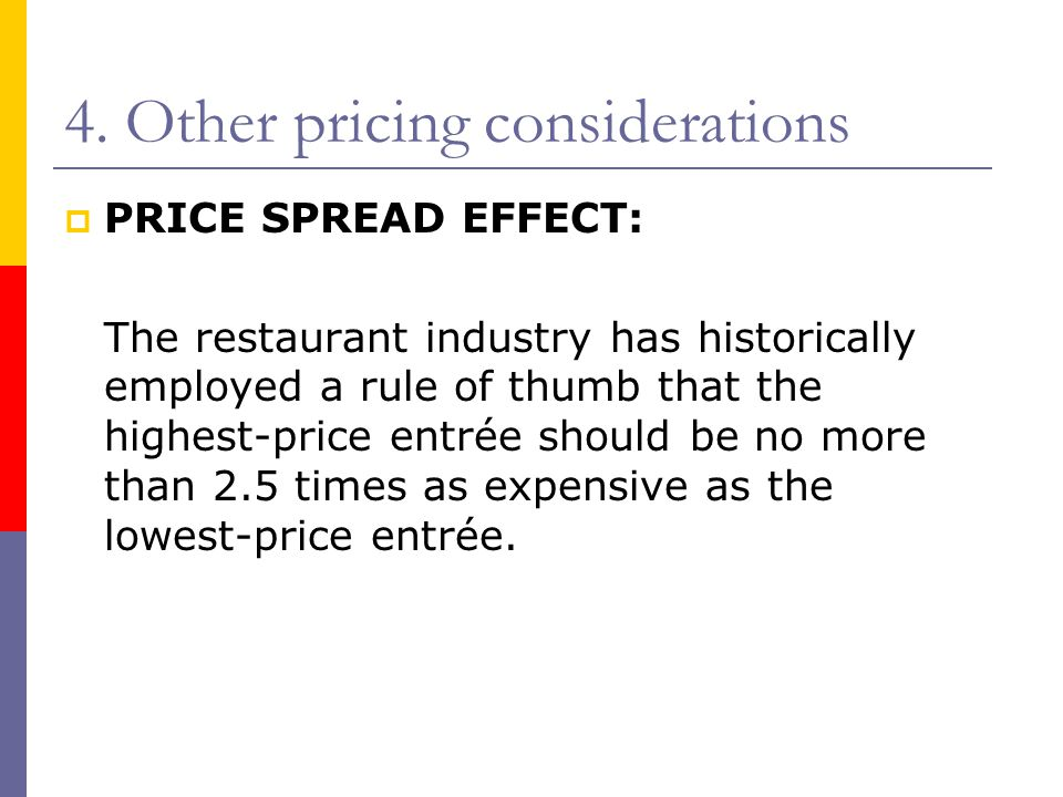 4. Other pricing considerations