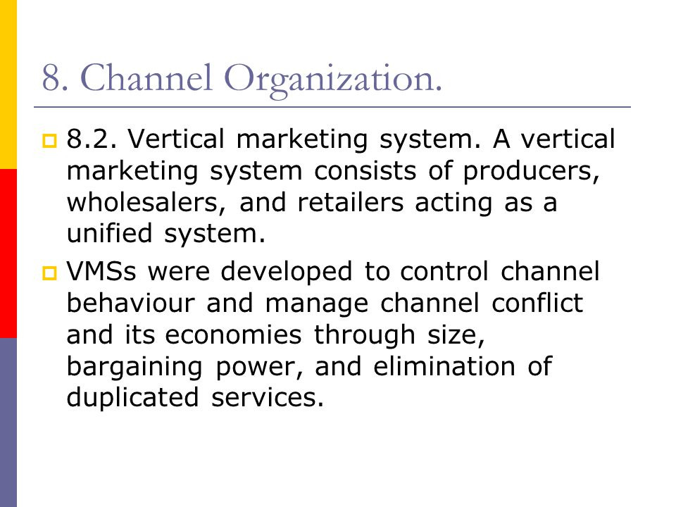 8. Channel Organization.