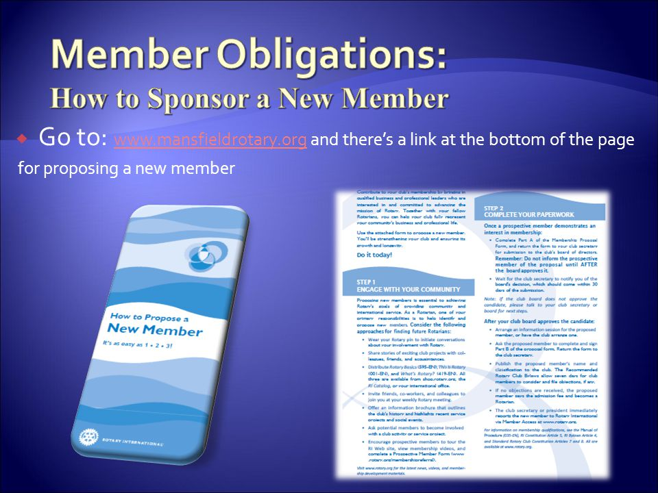 Member Obligations: How to Sponsor a New Member