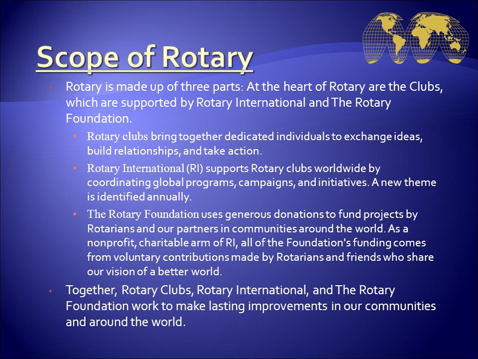 Scope of Rotary