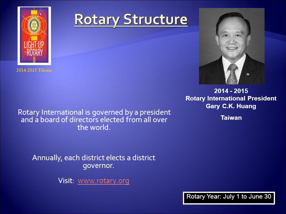 Rotary International President Gary C.K. Huang