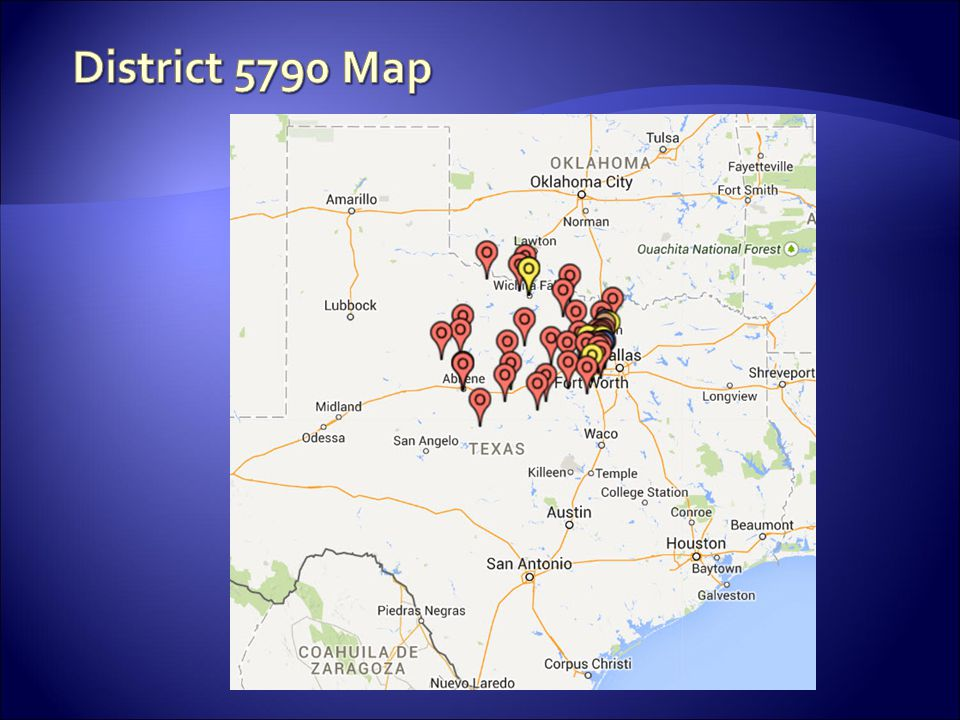 District 5790 Map