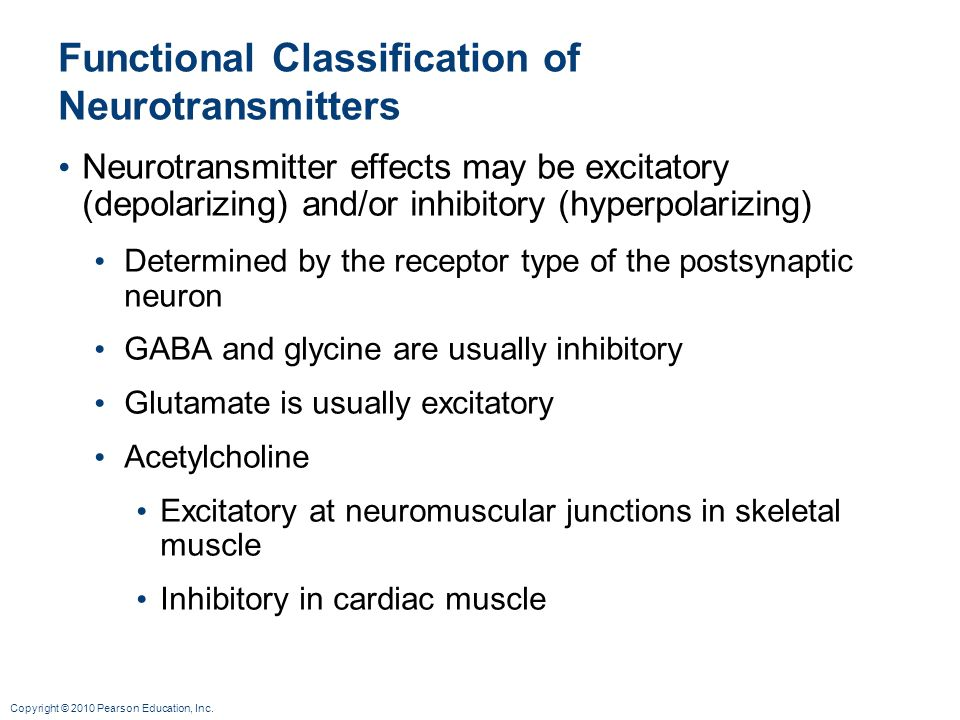 Functional Classification of Neurotransmitters