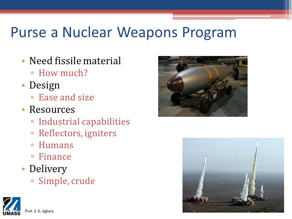 Purse a Nuclear Weapons Program
