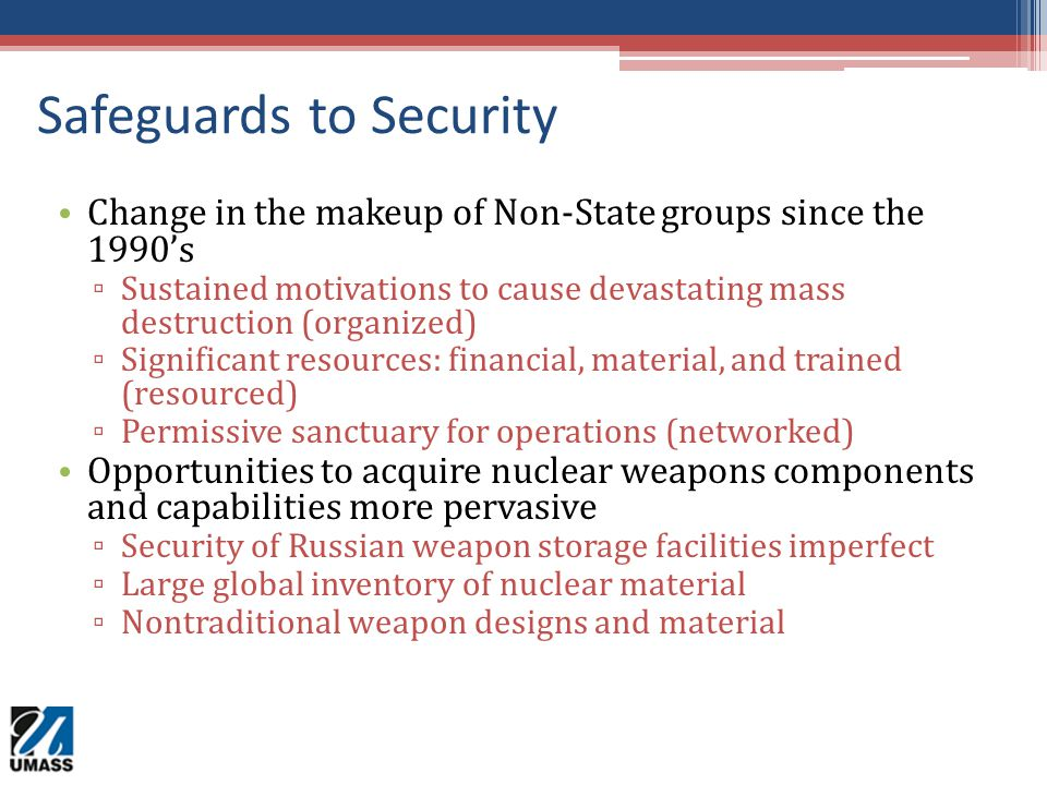 Safeguards to Security