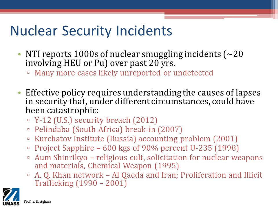Nuclear Security Incidents
