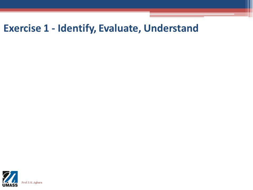 Exercise 1 - Identify, Evaluate, Understand