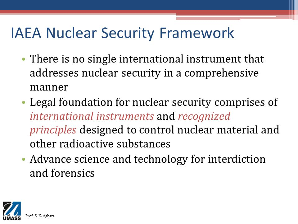 IAEA Nuclear Security Framework