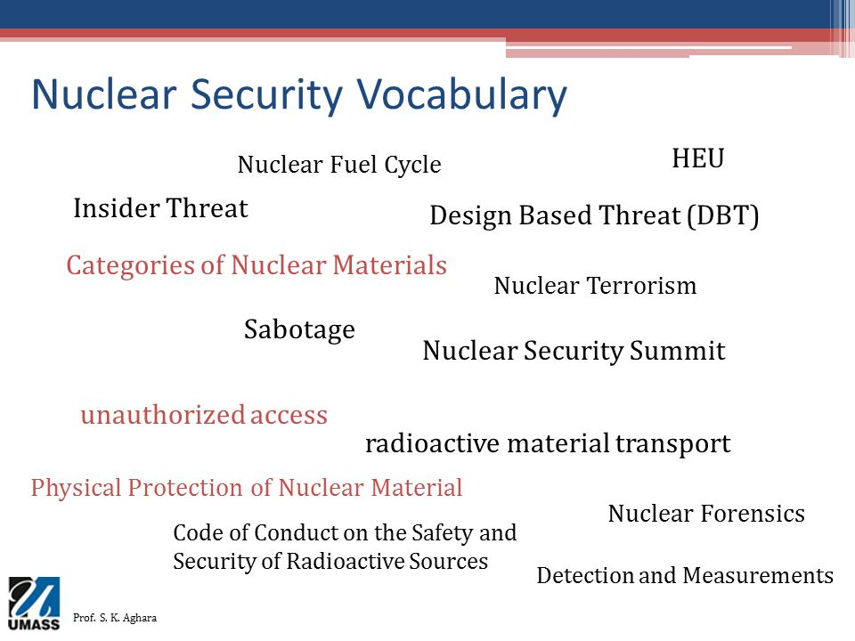 Nuclear Security Vocabulary