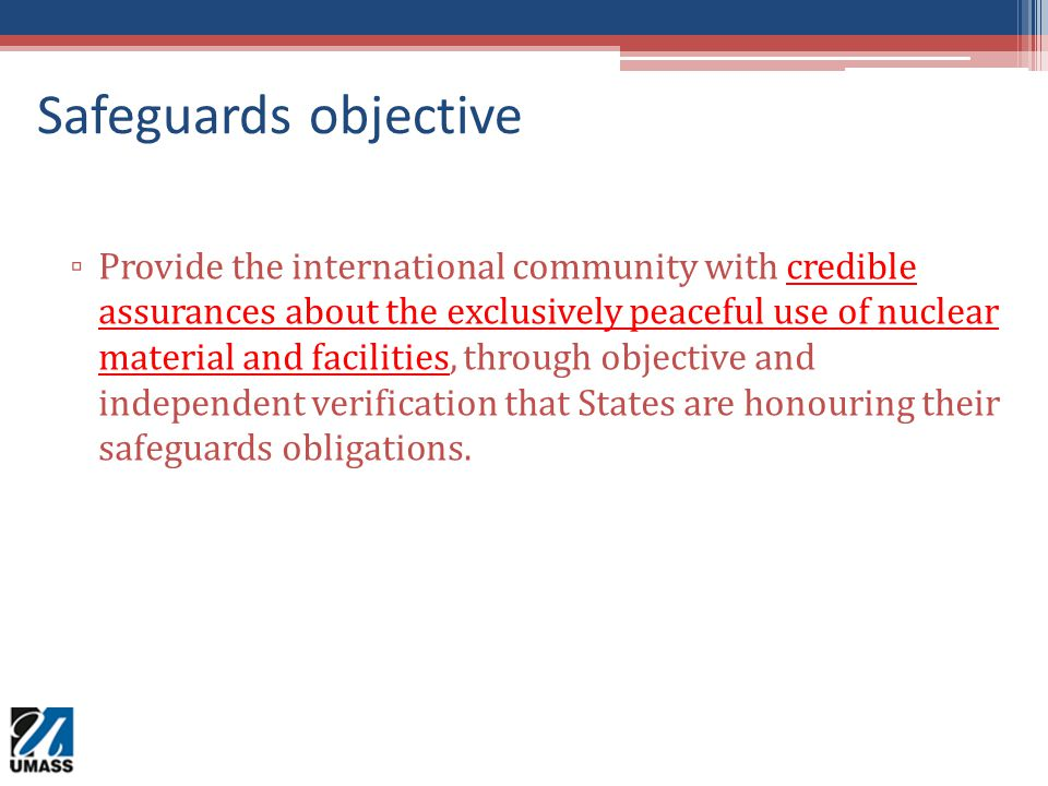 Safeguards objective