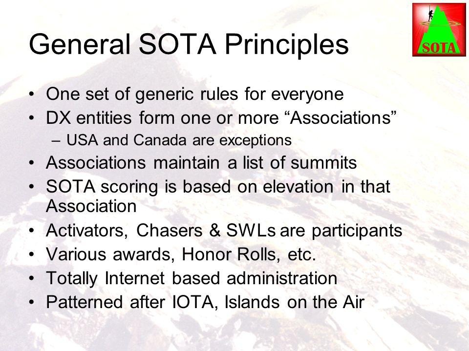 General SOTA Principles