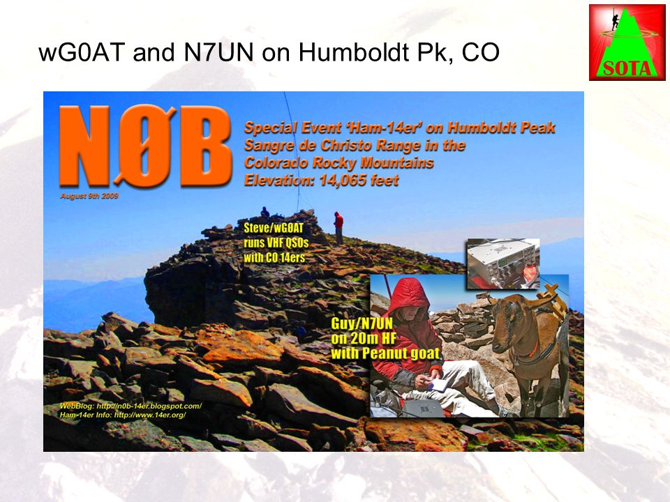 wG0AT and N7UN on Humboldt Pk, CO