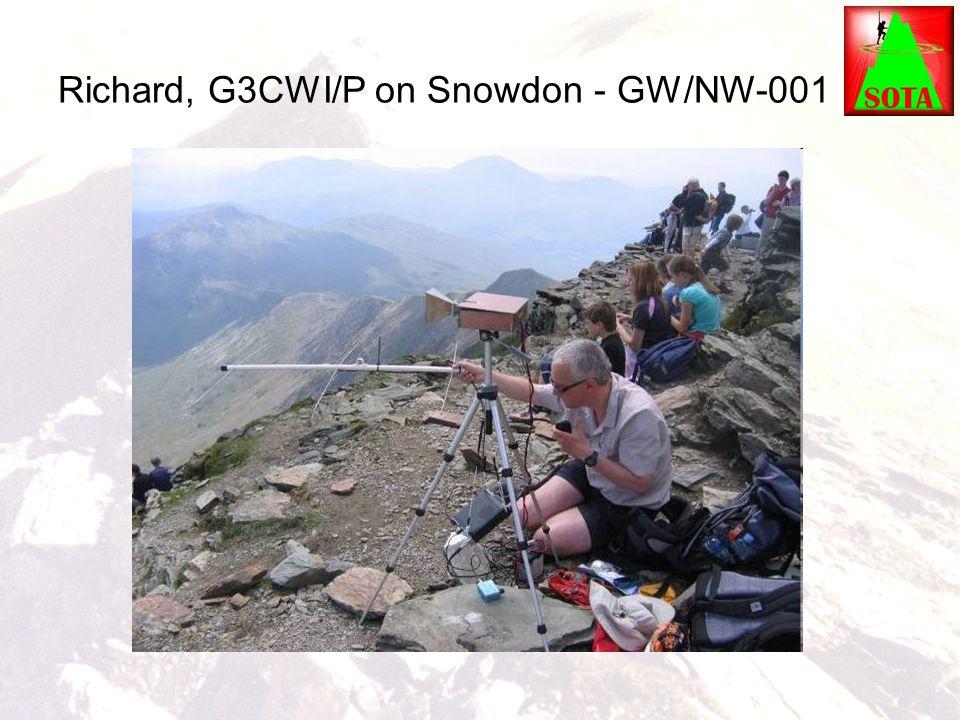 Richard, G3CWI/P on Snowdon - GW/NW-001