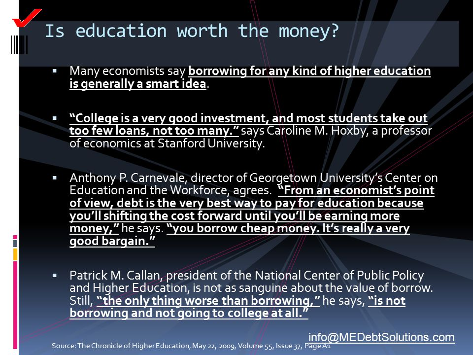Is education worth the money