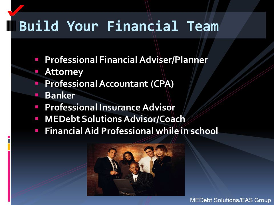 Build Your Financial Team