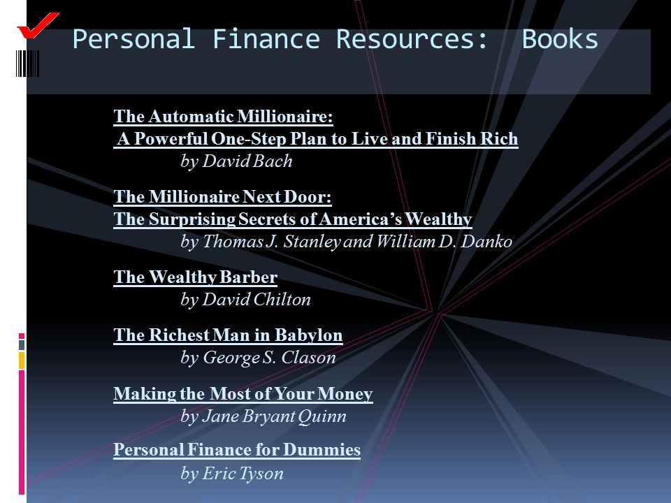Personal Finance Resources: Books