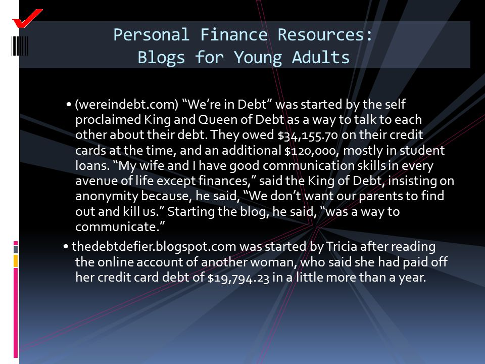 Personal Finance Resources: Blogs for Young Adults