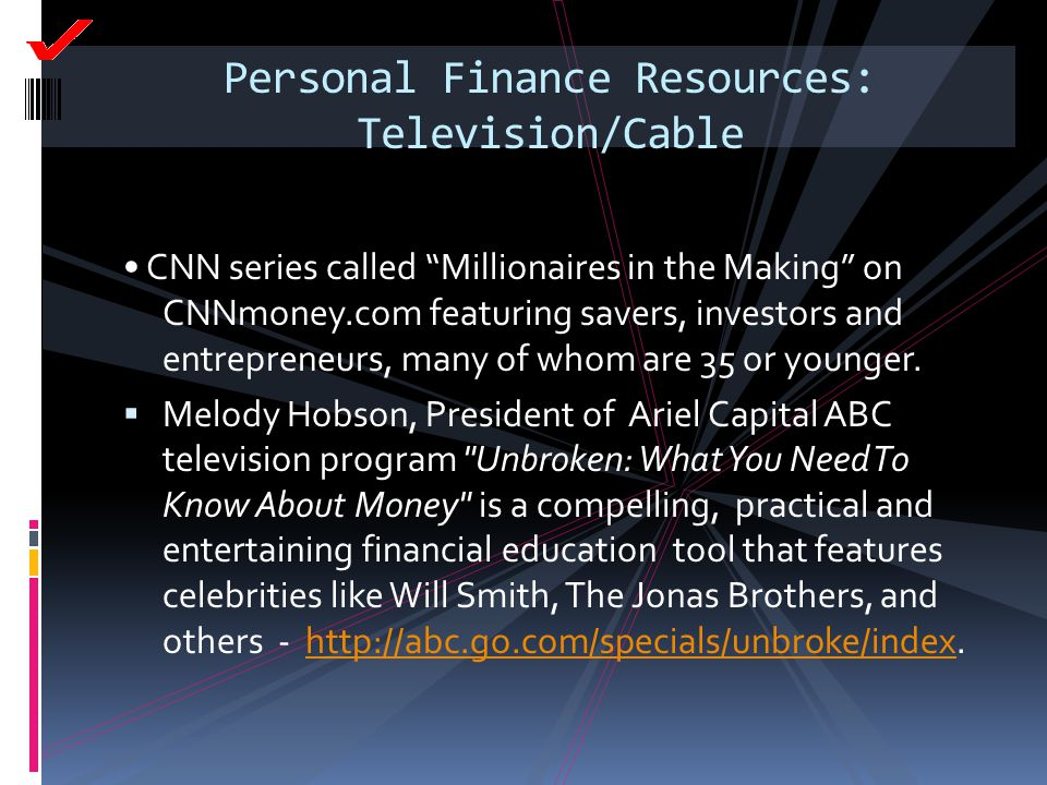 Personal Finance Resources: Television/Cable