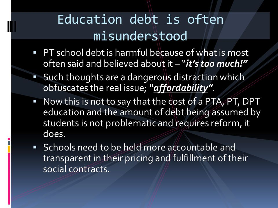 Education debt is often misunderstood