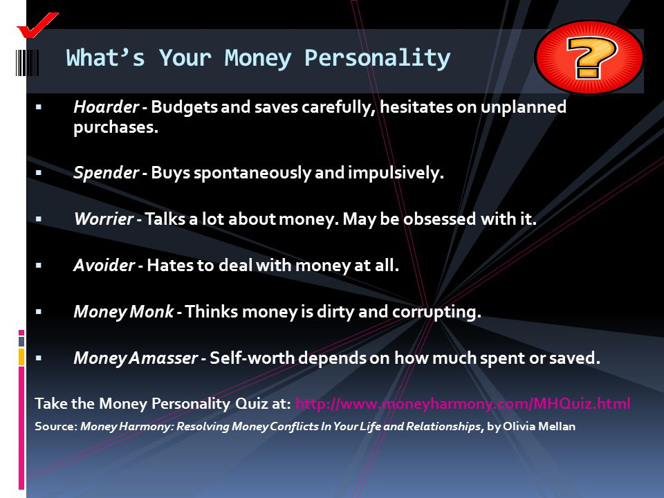 What's Your Money Personality