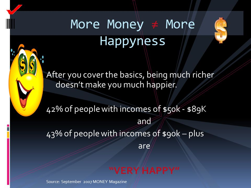 More Money ≠ More Happyness