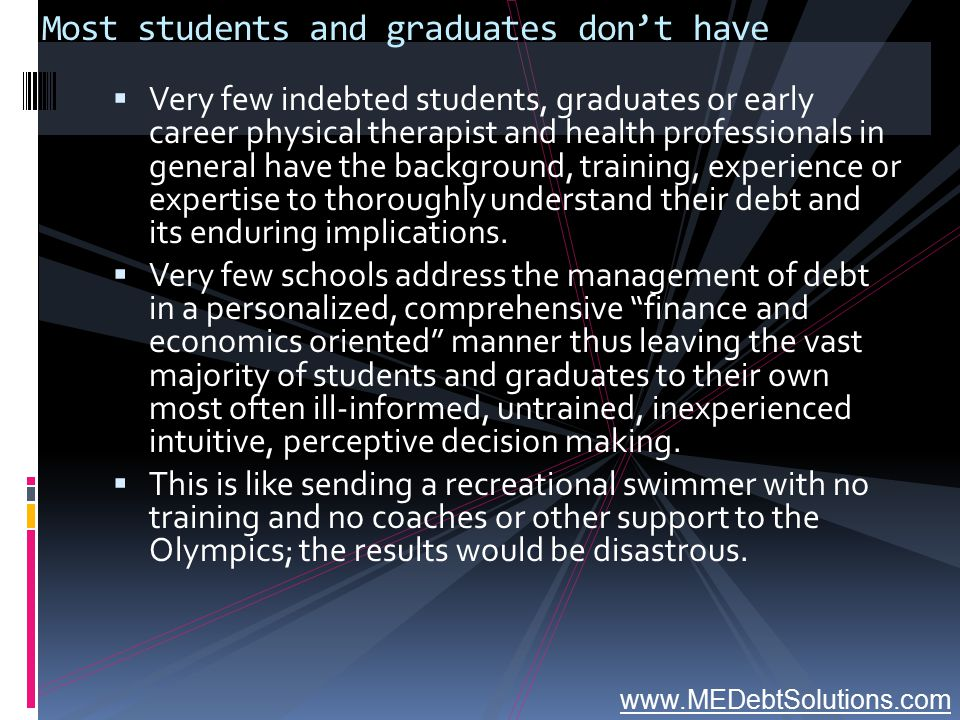 Most students and graduates don't have