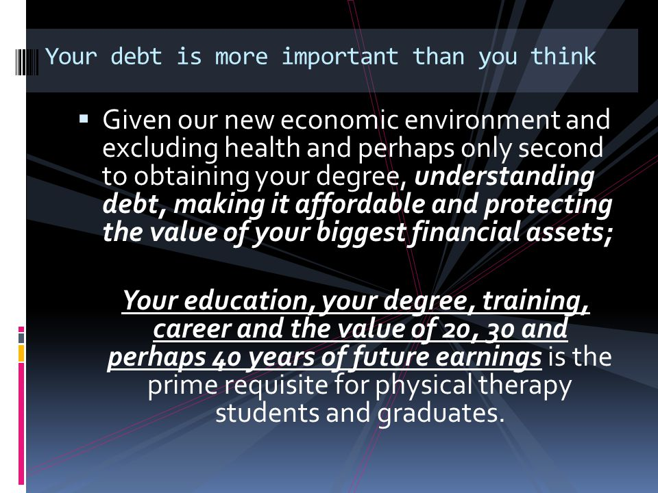 Your debt is more important than you think