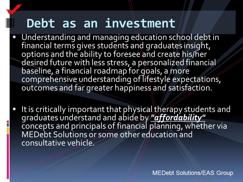 Debt as an investment