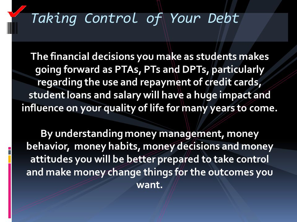Taking Control of Your Debt