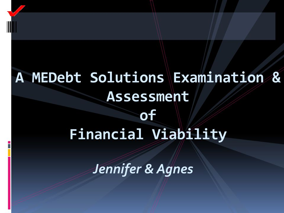A MEDebt Solutions Examination & Assessment of Financial Viability