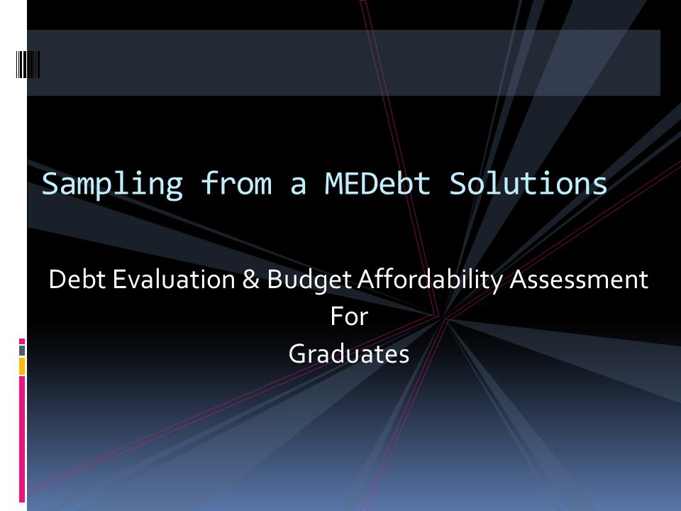 Sampling from a MEDebt Solutions
