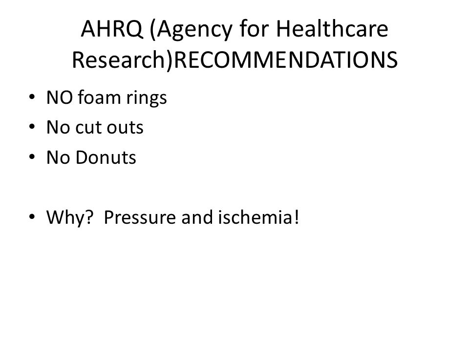 AHRQ (Agency for Healthcare Research)RECOMMENDATIONS
