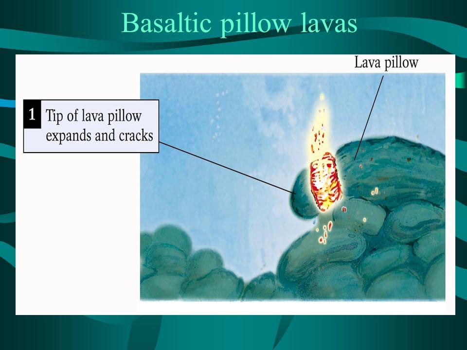 Basaltic pillow lavas